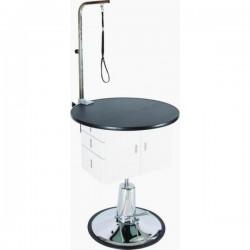 Stříhací stůl kulatý se skříňkou a hydraulickým zvedáním